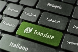 Translate button on keyboard, surrounded by country names