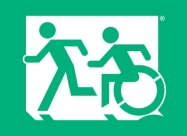 Accessible Exit Sign Project, Egress Group, Accessible Means of Egress Icon 12