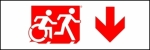 Accessible Exit Sign Project Running Man Wheelchair Wheelie Man Symbol Accessible Means of Egress Icon Exit Sign 100