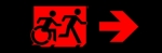 Accessible Exit Sign Project Running Man Wheelchair Wheelie Man Symbol Accessible Means of Egress Icon Exit Sign 105