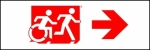 Accessible Exit Sign Project Running Man Wheelchair Wheelie Man Symbol Accessible Means of Egress Icon Exit Sign 106