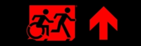 Accessible Exit Sign Project Running Man Wheelchair Wheelie Man Symbol Accessible Means of Egress Icon Exit Sign 111