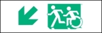 Accessible Exit Sign Project Running Man Wheelchair Wheelie Man Symbol Accessible Means of Egress Icon Exit Sign 14