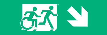 Accessible Exit Sign Project Running Man Wheelchair Wheelie Man Symbol Accessible Means of Egress Icon Exit Sign 2
