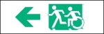 Accessible Exit Sign Project Running Man Wheelchair Wheelie Man Symbol Accessible Means of Egress Icon Exit Sign 23