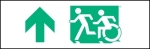 Accessible Exit Sign Project Running Man Wheelchair Wheelie Man Symbol Accessible Means of Egress Icon Exit Sign 26