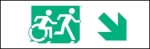 Accessible Exit Sign Project Running Man Wheelchair Wheelie Man Symbol Accessible Means of Egress Icon Exit Sign 32