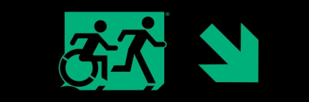 Accessible Exit Sign Project Running Man Wheelchair Wheelie Man Symbol Accessible Means of Egress Icon Exit Sign 33