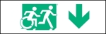 Accessible Exit Sign Project Running Man Wheelchair Wheelie Man Symbol Accessible Means of Egress Icon Exit Sign 38