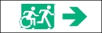 Accessible Exit Sign Project Running Man Wheelchair Wheelie Man Symbol Accessible Means of Egress Icon Exit Sign 41