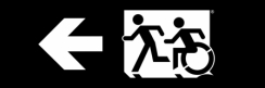 Accessible Exit Sign Project Running Man Wheelchair Wheelie Man Symbol Accessible Means of Egress Icon Exit Sign 71