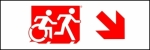 Accessible Exit Sign Project Running Man Wheelchair Wheelie Man Symbol Accessible Means of Egress Icon Exit Sign 88