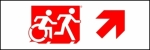 Accessible Exit Sign Project Running Man Wheelchair Wheelie Man Symbol Accessible Means of Egress Icon Exit Sign 94