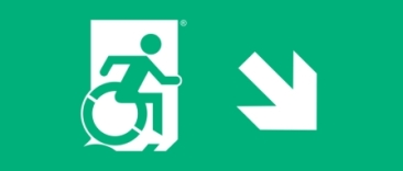 Accessible Exit Sign Project Wheelchair Wheelie Man Symbol Accessible Means of Egress Icon Exit Sign 10