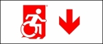 Accessible Exit Sign Project Wheelchair Wheelie Man Symbol Accessible Means of Egress Icon Exit Sign 100