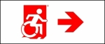 Accessible Exit Sign Project Wheelchair Wheelie Man Symbol Accessible Means of Egress Icon Exit Sign 106