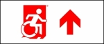 Accessible Exit Sign Project Wheelchair Wheelie Man Symbol Accessible Means of Egress Icon Exit Sign 112