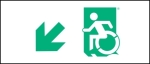 Accessible Exit Sign Project Wheelchair Wheelie Man Symbol Accessible Means of Egress Icon Exit Sign 15