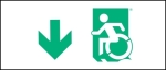 Accessible Exit Sign Project Wheelchair Wheelie Man Symbol Accessible Means of Egress Icon Exit Sign 21