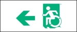 Accessible Exit Sign Project Wheelchair Wheelie Man Symbol Accessible Means of Egress Icon Exit Sign 24