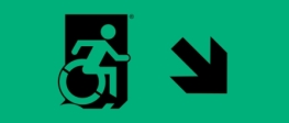 Accessible Exit Sign Project Wheelchair Wheelie Man Symbol Accessible Means of Egress Icon Exit Sign 31