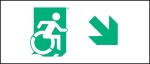 Accessible Exit Sign Project Wheelchair Wheelie Man Symbol Accessible Means of Egress Icon Exit Sign 33