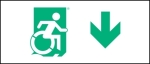 Accessible Exit Sign Project Wheelchair Wheelie Man Symbol Accessible Means of Egress Icon Exit Sign 39