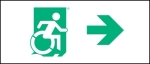 Accessible Exit Sign Project Wheelchair Wheelie Man Symbol Accessible Means of Egress Icon Exit Sign 42