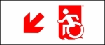 Accessible Exit Sign Project Wheelchair Wheelie Man Symbol Accessible Means of Egress Icon Exit Sign 52