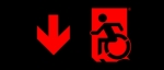 Accessible Exit Sign Project Wheelchair Wheelie Man Symbol Accessible Means of Egress Icon Exit Sign 63