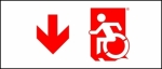 Accessible Exit Sign Project Wheelchair Wheelie Man Symbol Accessible Means of Egress Icon Exit Sign 64