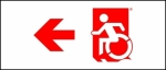 Accessible Exit Sign Project Wheelchair Wheelie Man Symbol Accessible Means of Egress Icon Exit Sign 70