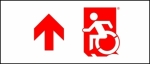 Accessible Exit Sign Project Wheelchair Wheelie Man Symbol Accessible Means of Egress Icon Exit Sign 76