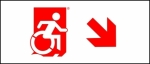 Accessible Exit Sign Project Wheelchair Wheelie Man Symbol Accessible Means of Egress Icon Exit Sign 88