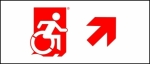 Accessible Exit Sign Project Wheelchair Wheelie Man Symbol Accessible Means of Egress Icon Exit Sign 94