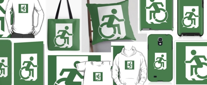 Accessible Means of Egress Exit Sign Merchandise