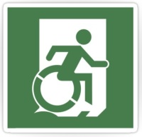 Accessible Means of Egress Icon Sticker Exit Sign