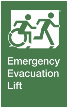Emergency Evacuation Lift Right Hand Accessible Exit Sign Project Wheelchair Accessible Means of Egress Icon