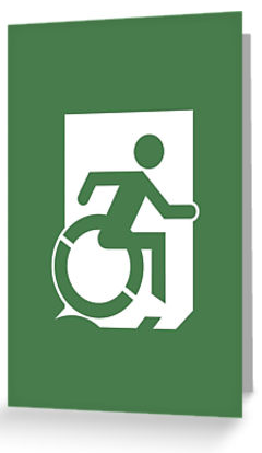 Wheelie Man Exit Sign TM Logo Greeting Card
