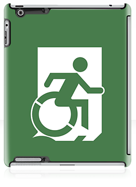 Wheelie Man Exit Sign TM Logo iPad Case