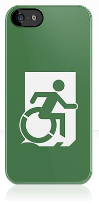 Wheelie Man Exit Sign TM Logo iPhone Case
