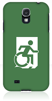 Wheelie Man Exit Sign TM Logo Samsung Galaxy Case