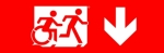 Accessible Exit Sign Project Running Man Wheelchair Wheelie Man Symbol Accessible Means of Egress Icon Exit Sign 102