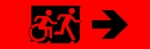 Accessible Exit Sign Project Running Man Wheelchair Wheelie Man Symbol Accessible Means of Egress Icon Exit Sign 103