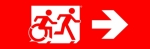 Accessible Exit Sign Project Running Man Wheelchair Wheelie Man Symbol Accessible Means of Egress Icon Exit Sign 108