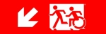 Accessible Exit Sign Project Running Man Wheelchair Wheelie Man Symbol Accessible Means of Egress Icon Exit Sign 54
