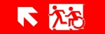 Accessible Exit Sign Project Running Man Wheelchair Wheelie Man Symbol Accessible Means of Egress Icon Exit Sign 60