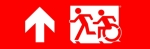 Accessible Exit Sign Project Running Man Wheelchair Wheelie Man Symbol Accessible Means of Egress Icon Exit Sign 78