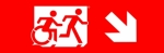 Accessible Exit Sign Project Running Man Wheelchair Wheelie Man Symbol Accessible Means of Egress Icon Exit Sign 90