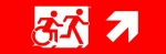 Accessible Exit Sign Project Running Man Wheelchair Wheelie Man Symbol Accessible Means of Egress Icon Exit Sign 96